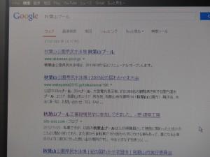 秋葉山プール グーグル検索