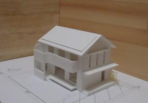 桜森町の家 模型